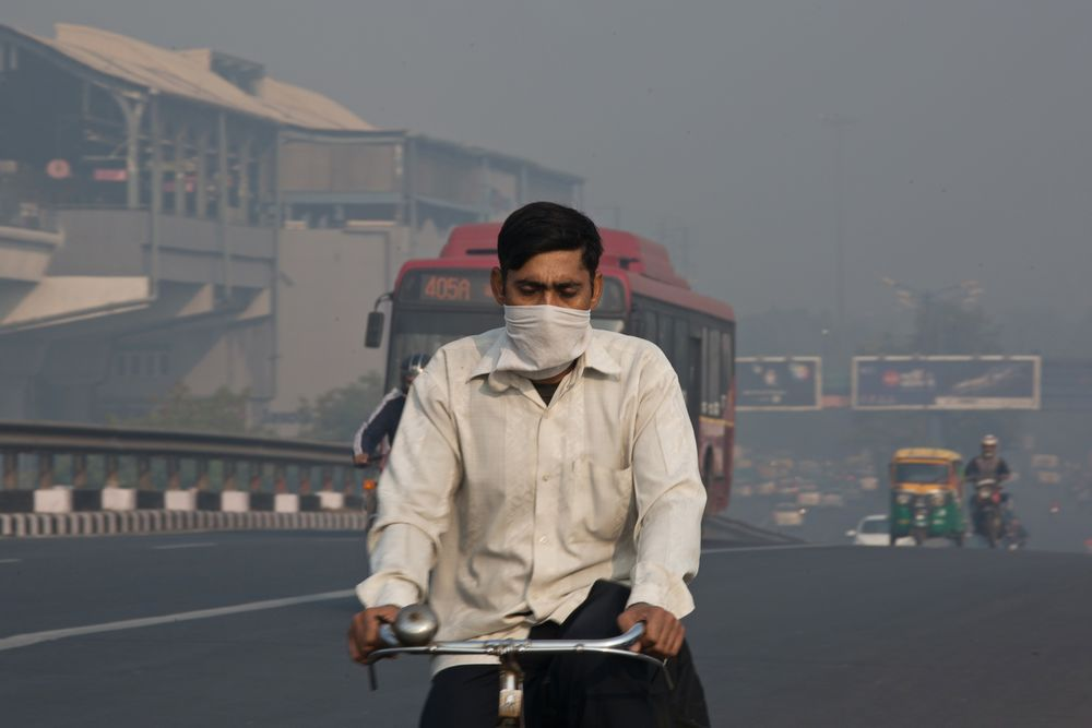 Image result for air pollution mask people in india