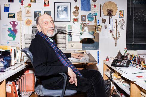 Milton Glaser in his East Side Manhattan studio.