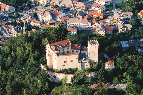 Bruneck Castle, which houses the Messner Mountain Museum's exhibit on mountain peoples from Asia, Africa, South America, and Europe
