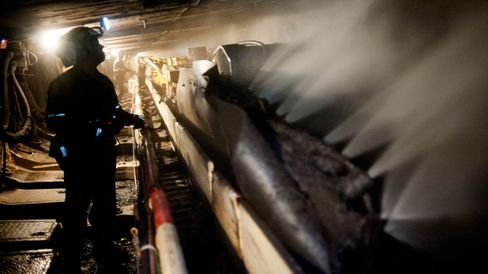 Coal Mining Operations Inside Consol Energy Bailey Mine