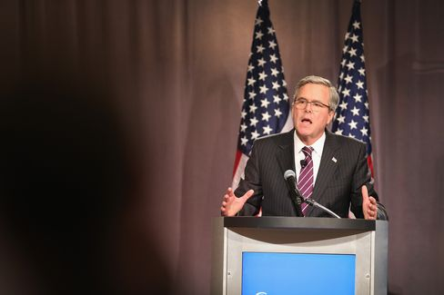 Jeb Bush Addresses The Chicago Council On Global Affairs