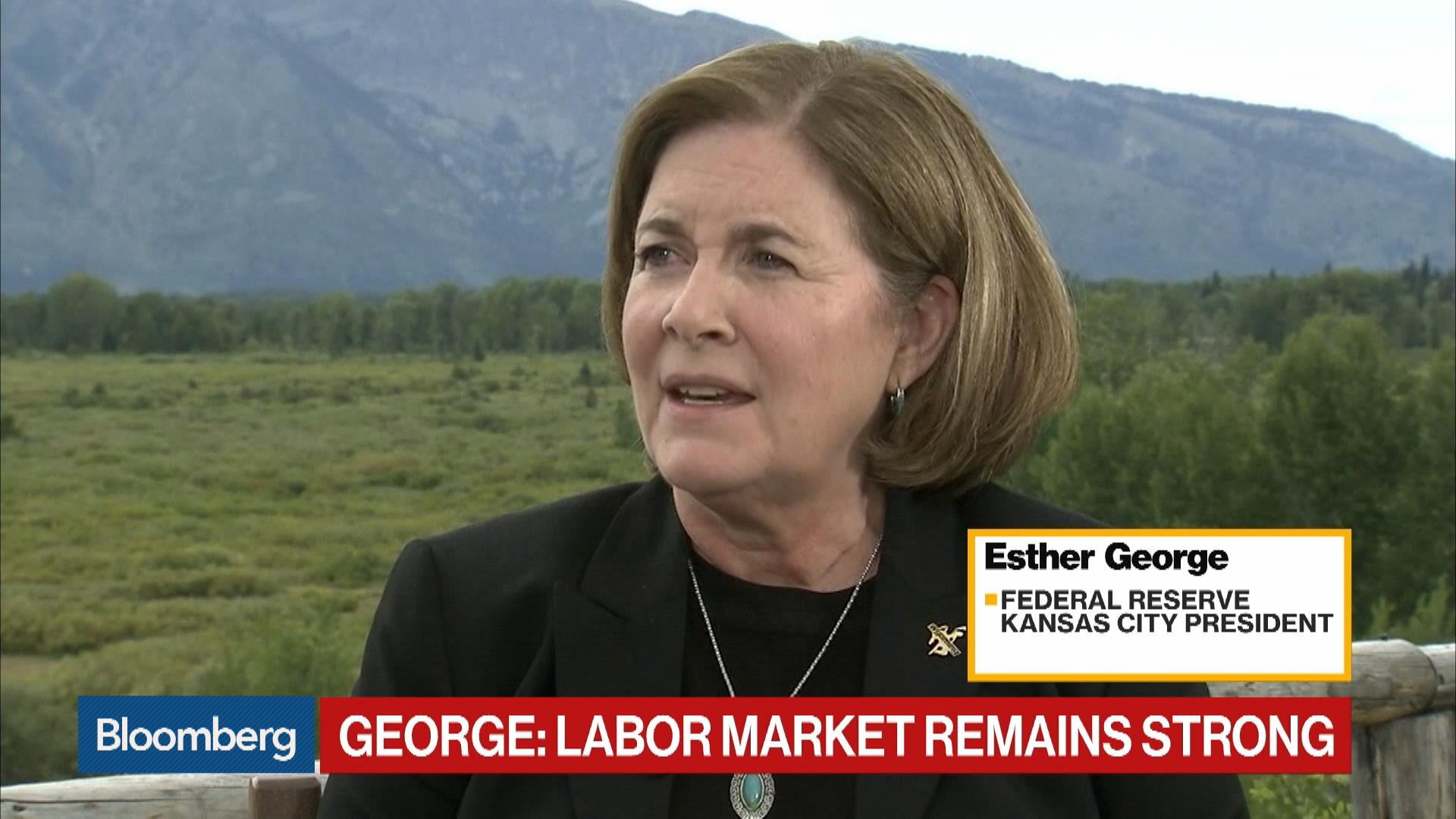 Federal Reserve's Esther George Says It's Not Yet Time to Provide More Accommodation