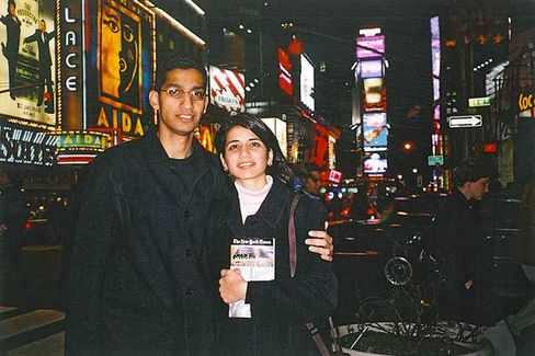 Pichai and his wife, Anjali, in New York in 2002