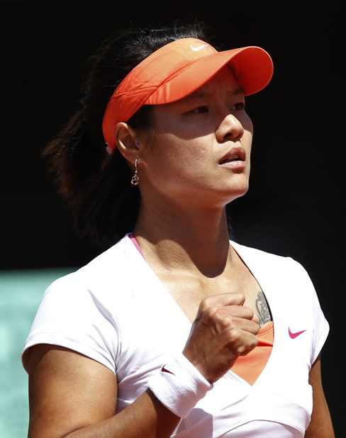 Li Na Plays in French open Semifinal