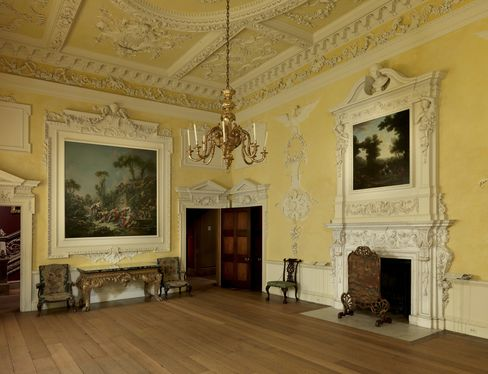 The Dining room from Kirtlington Park, Oxfordshire, U.K., 1742–48.