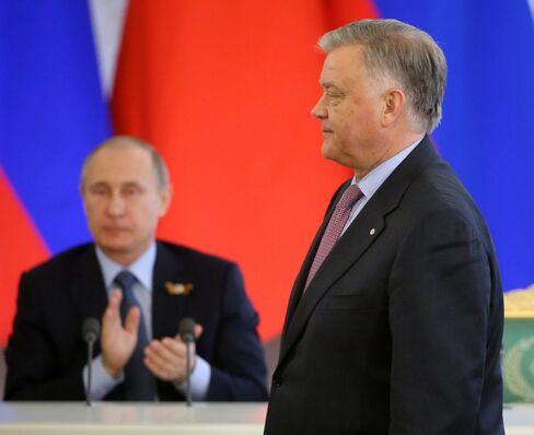 Vladimir Yakunin and Putin