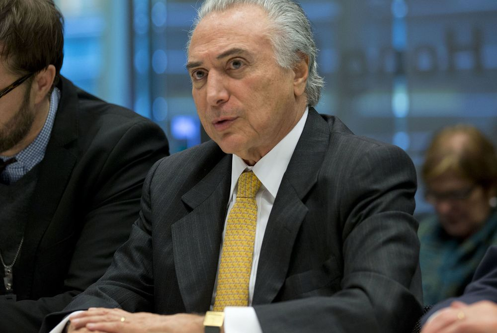 Leaked Brazil Tape Shows VP Temer Practicing Unity Address - Bloomberg
