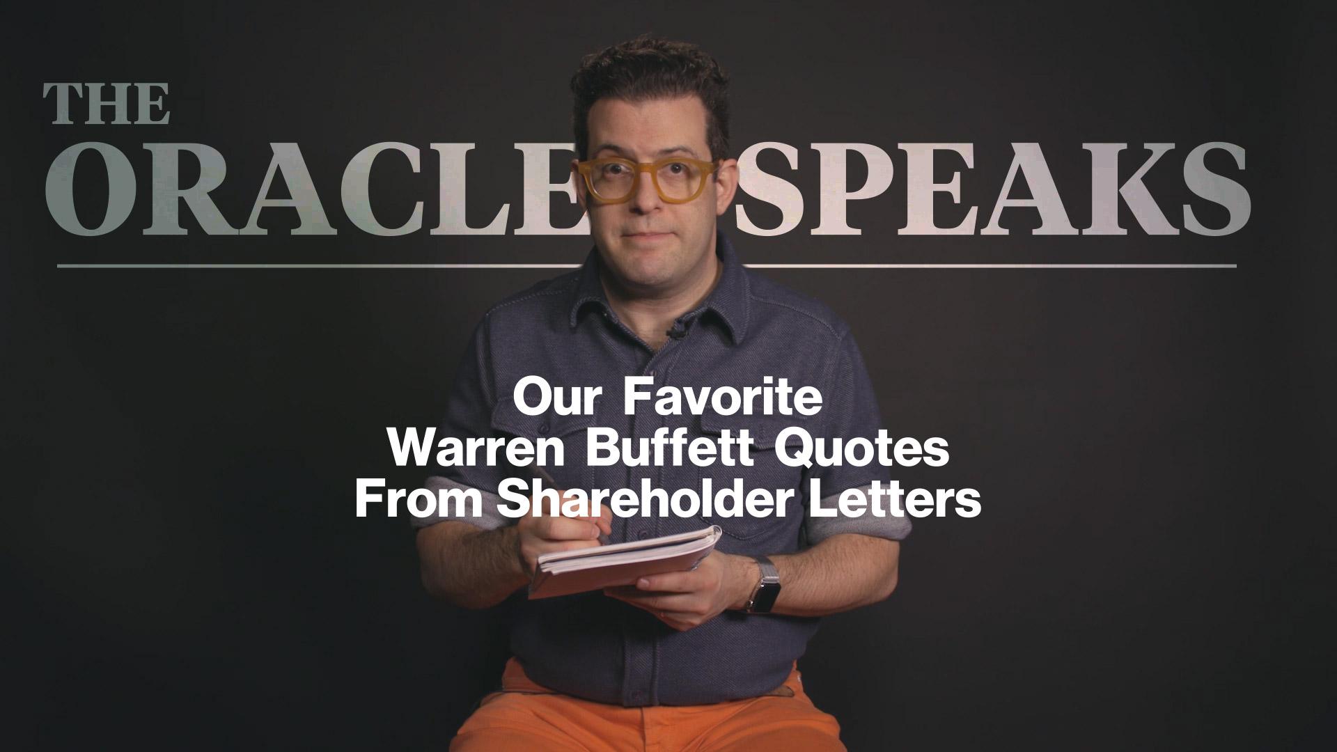 the best warren buffett quotes from shareholder letters – bloomberg
