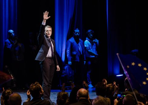 French Presidential Candidate Emmanuel Macron Holds Election Rally