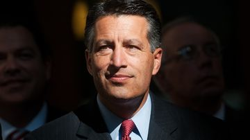 Governor Brian Sandoval attends a news conference in Carson City, Nev., on Sept. 4, 2014.