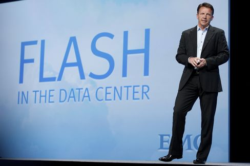 Jeremy Burton, executive vice president at EMC Corp., speaks during the Oracle OpenWorld 2012 conference in San Francisco, California, U.S., on Tuesday, Oct. 2, 2012.
