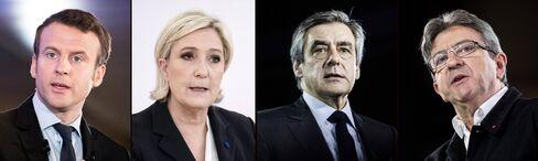 Macron, Le Pen, Fillon and Melenchon