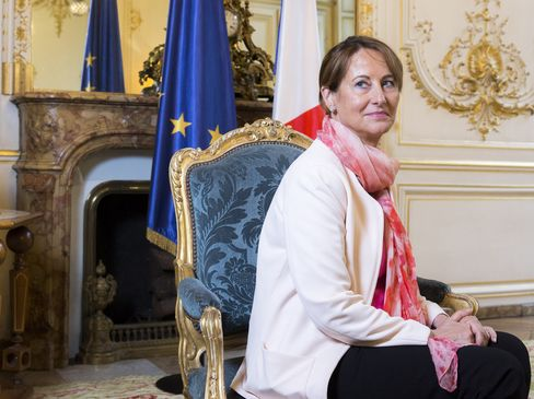 France's Energy And Environment Minister Segolene Royal Interview