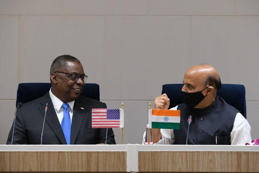 U.S. Secretary of Defense Lloyd Austin Visits New Delhi