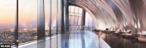 Miami's private indoor pool.