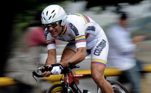 Colombian cyclist Santiago Botero