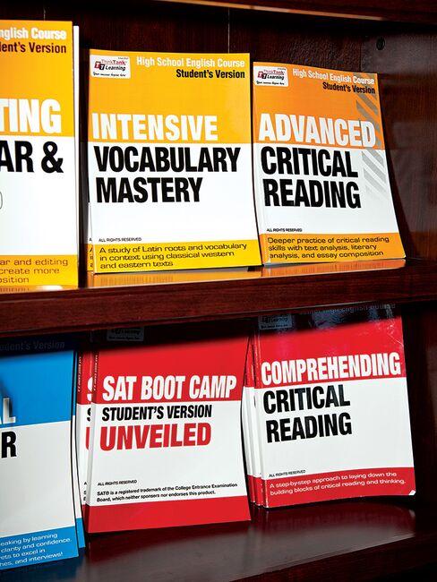 Educational materials at the Millbrae tutoring center.