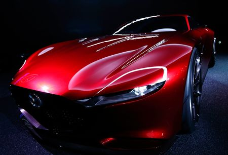 Mazda Motor's RX-Vision concept vehicle stands on display at the Tokyo Motor Show on Oct. 28, 2015.
