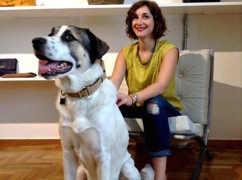 Papailiopoulou with her dog, Geppetto.