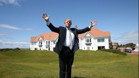 Donald Trump visits the Turnberry Golf Club in Turnberry, Scotland, on June 8, 2015.
