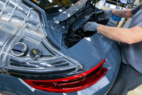 Luxury Automobile Manufacture At Porsche AG's Factory