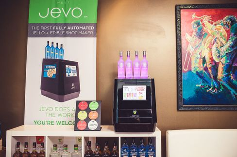 The Jevo will turn out a tray of 20 edible shots, served in recyclable plastic cups, in just 10 minutes.