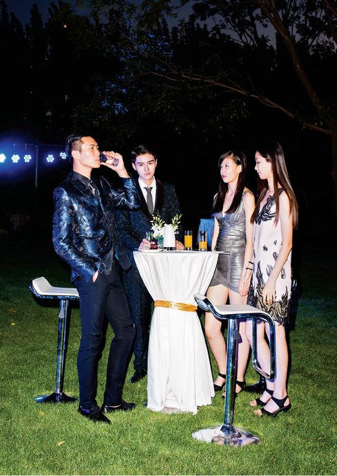 Models hired to attend Hang's birthday party.
