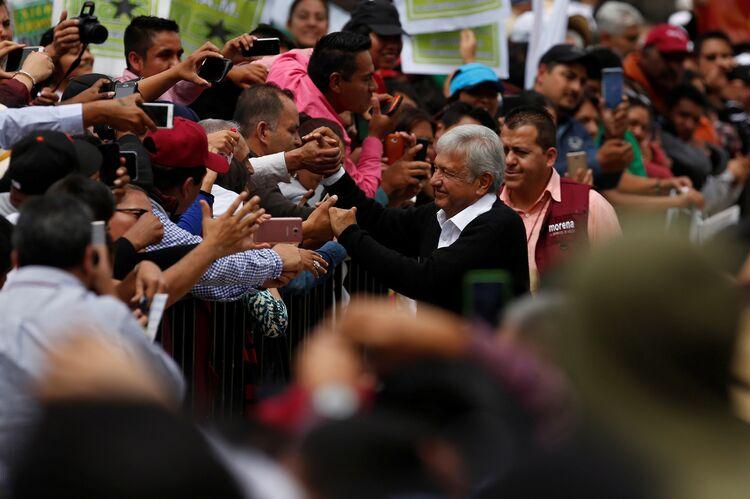 Mexico's front-runner, López Obrador.