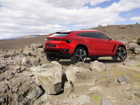 The Urus, Lamborghini's first SUV.
