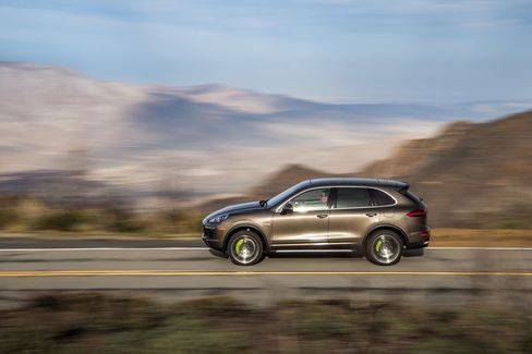 The Cayenne e-Hybrid can drive 14 miles on pure electric power.