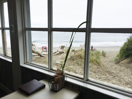 A view from the Siren Canteen in Stinson Beach.