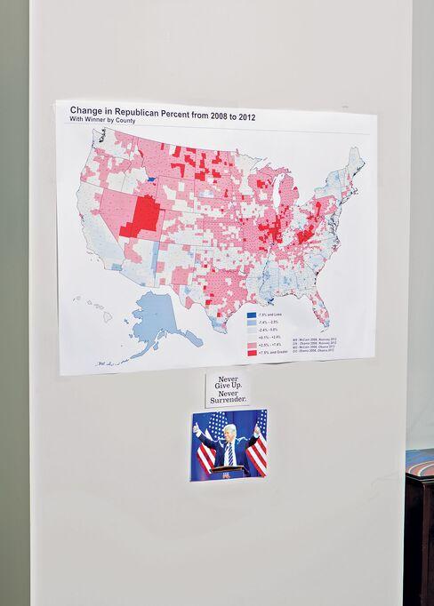 A poll map.