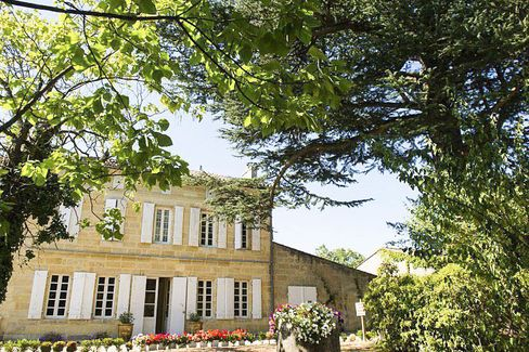 Charming 400-year-old Chateau Monlot. a 21-acre estate in Saint-Émilion near star property Chateau Pavie, once belonged to King Louis XIII. It's planted to merlot and cabernet franc.