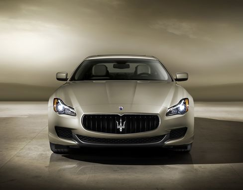 A Maserati Quattroporte GTS. The 3.8-liter twin-turbo V-8 engine has 523 horsepower and 479 pound-feet of torque. Source: Maserati via Bloomberg