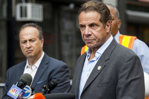 Cuomo held a press conference near the site of explosion.