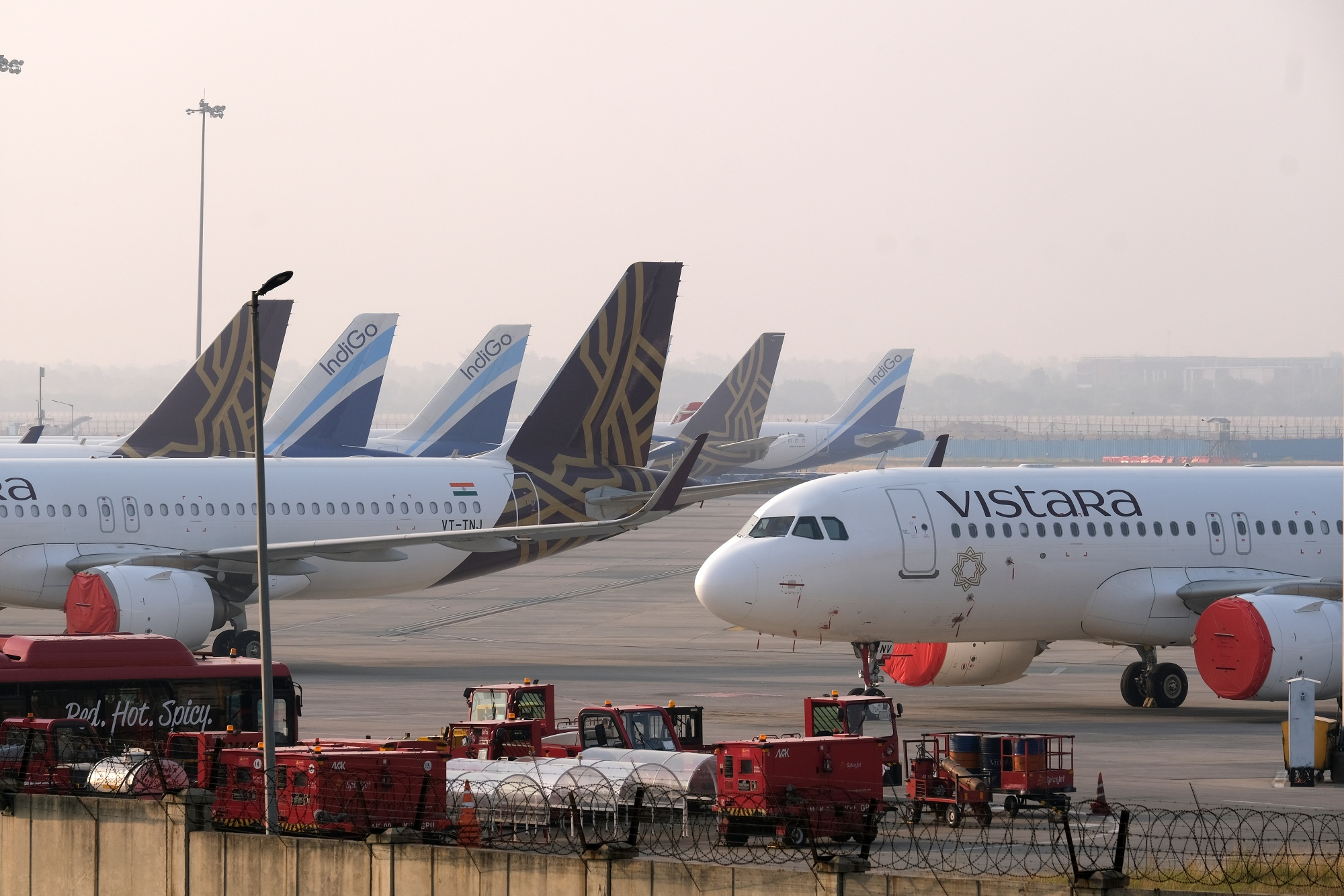 Grounded Aircraft At Delhi Airport As India's Ban on Flying to Stay Until Virus No Longer a Danger