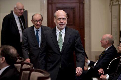 Volcker, Greenspan, and Bernanke Unite for Fed's 100th Birthday