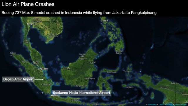 Lion Air Boeing 737 Crashes in Indonesia With 189 People on Board ...