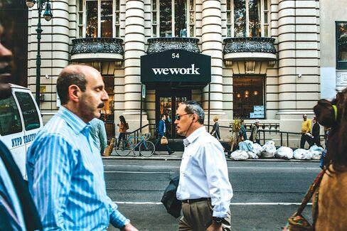 WeWork's Bryant Park office in New York.
