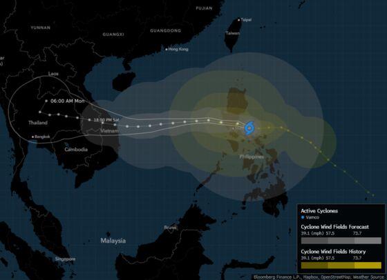 Typhoon to Keep Philippine Capital Shut as Flood Cripples Cities