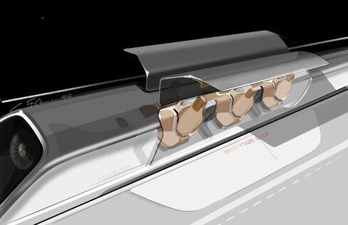 An artist's impression of the Hyperloop pod