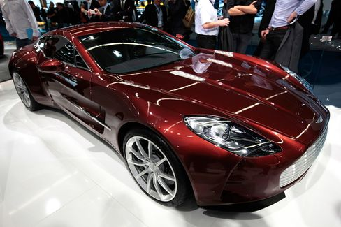 The Aston Martin One-77 was unveiledin Paris in 2008 as the British automaker's most expensive offering to date. It has a V12, 750-horsepower engine, and only 77 were made. Price: $1.7 million.
