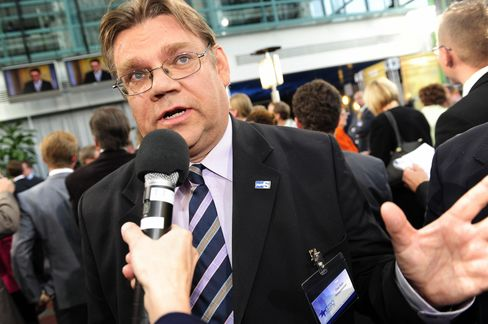 Leader of the True Finns Party Timo Soini