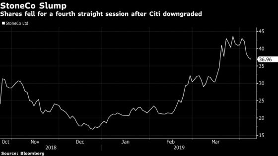 Buffett-Backed StoneCo Slips on Citi Cut as 2019 Rally Sputters
