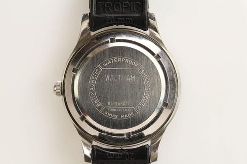 This case is massive, for a watch from 1957, and the caseback seals it against the elements.