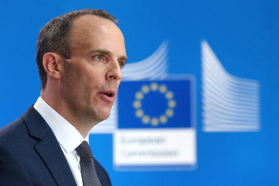 U.K.'s Raab Wants Business as Usual After a 'No Deal' Brexit