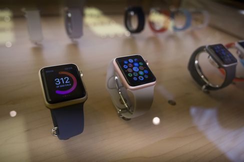 New Apple Watches On Display At The Fifth Avenue Apple Inc. Store