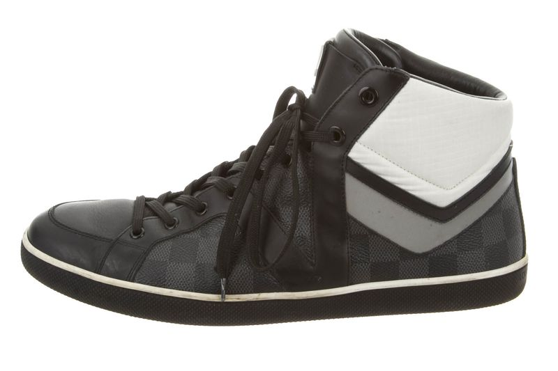 louis vuitton designer shoes. louis vuitton damier high-top, the best-selling sneaker in san francisco on secondary market site real real. designer shoes