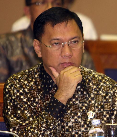 Indonesia's Finance Minister Agus Martowardojo