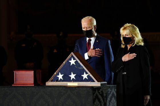 Biden Visits Capitol, Where Slain Officer Lies in Honor